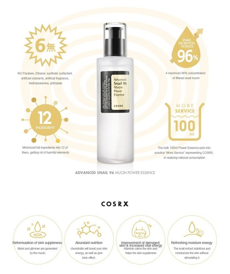 COSRX, Advanced Snail 96 Mucin Power Essence ~ Sakurakotoo