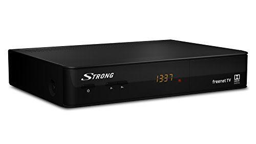 Strong SRT 8540 Digitaler terrestrischer HD Receiver mit HEVC Technology (DVB-T2, HDMI, USB, Ethernet, SCART, ANT IN, 3,5 mm Klinke, ECO, Fernbedienung) schwarz