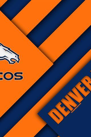 Broncos de Denver, de la Liga del Fútbol Americano, 4k, el logotipo de la NFL, naranja azul, abstracción, diseño de materiales, el fútbol Americano, Denver, Colorado, estados UNIDOS, la Liga Nacional de Fútbol, AFL
