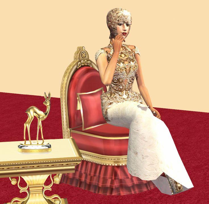 Sims 2 long dress shoes