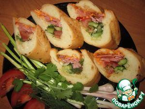 Французский деревенский сэндвич с кисло-сладким соусом