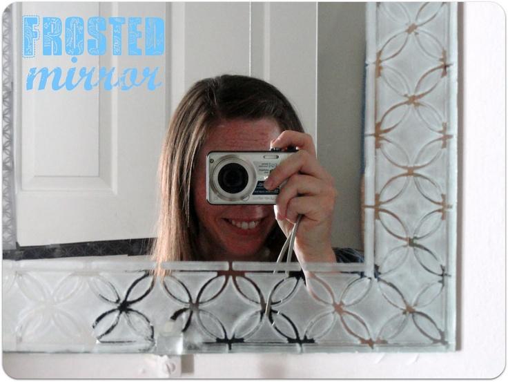 LOOOVE Martha Stewart's Arabesque stencils!  must do this on my boring bath mirrors.