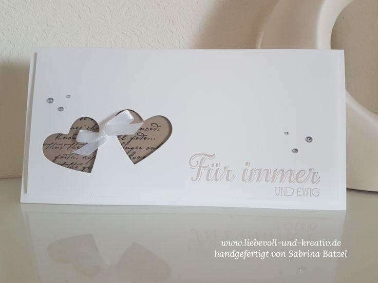 Stampin'Up!, Einladung, Wedding, Hochzeit, Wir heiraten, Herzen, Für immer und ewig