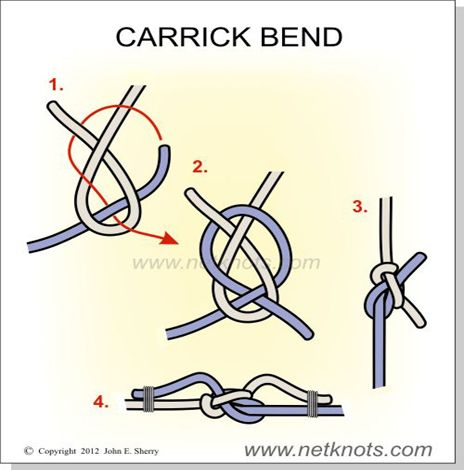 Carrick Bend - for something a little stronger than the Sheet Bend