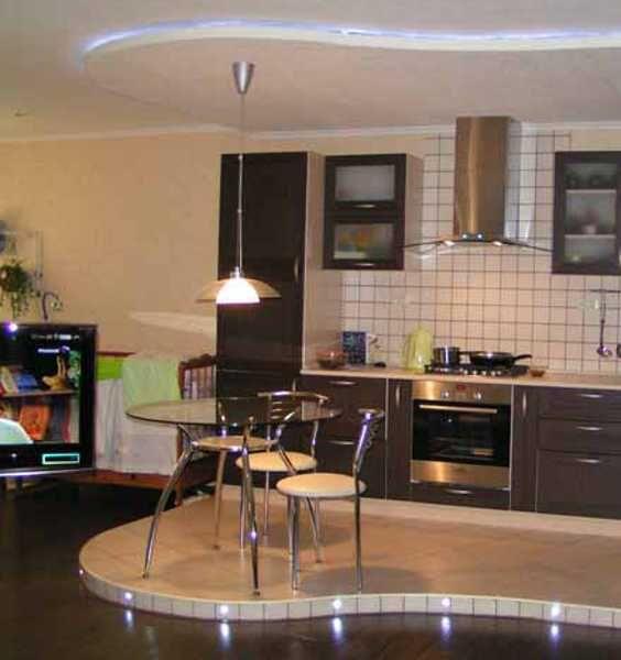 Kitchen Storage Zones: 30 Decorative Raised Floor Designs Defining Functional