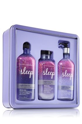 Bath and body works Aromatherapy:Sleep you'll only find during Christmas some times. (I just recently found out this year the set will be different from it's old set looks. It has a new look now but it still has the same smell everyone loves inside this bottles.