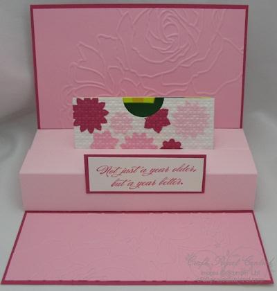 Paper Punch Addiction: Floral Pop Up gift card holder