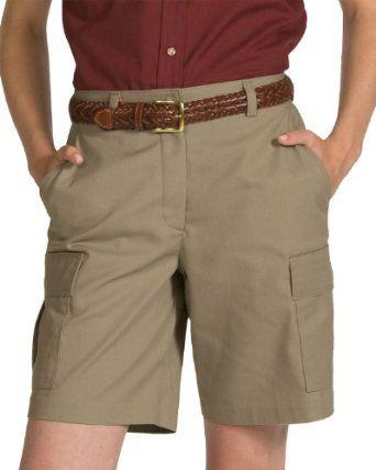 Ed Garments Women's Flat Front Wrinkle Release Cargo Short, TAN, 2 Ed Garments. $21.99