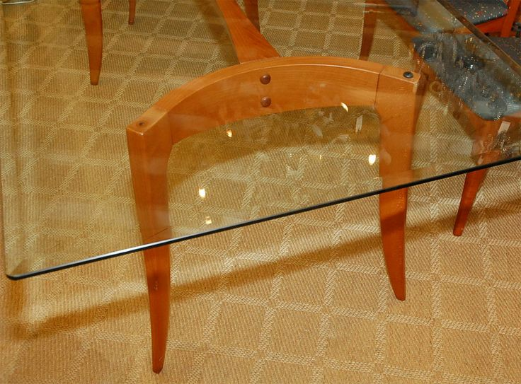 Italian Dining Table With Six Chairs By A Sibau Modern