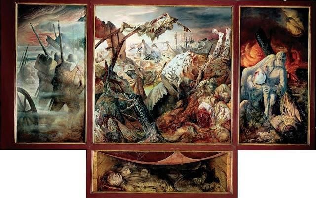 Otto DIX, triptyque La Guerre, 1929-32.