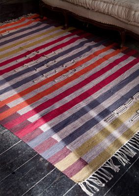 """""""Slarvtjäll"""" cotton rug – All these lovely rugs – GUDRUN SJÖDÉN – Webshop, mail order and boutiques 