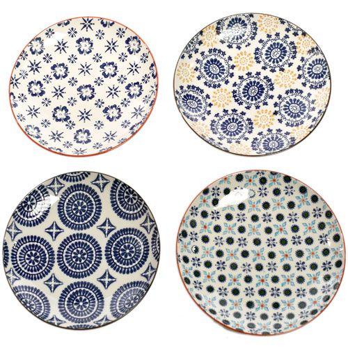 Assiette à dessert en céramique (par 4) Mosaic Pols Potten : Decoclico 39€
