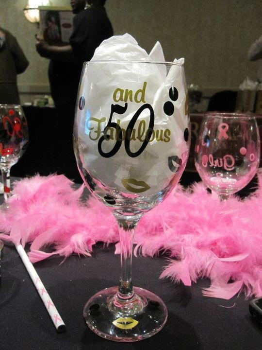 50 And Fabulous Wine Glass Personalized Wine Glasses