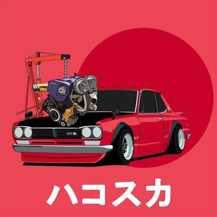 Nissan Skyline Hakosuka GTR KPGC10 RB26 – Auto Kunst – #Art #car #GTR #Hakosuka # …   – Motor's