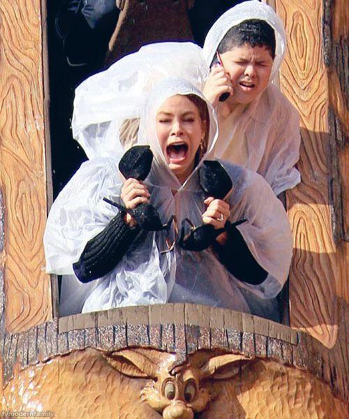 Mod Fam at Disneyland. Gloria's face is priceless.