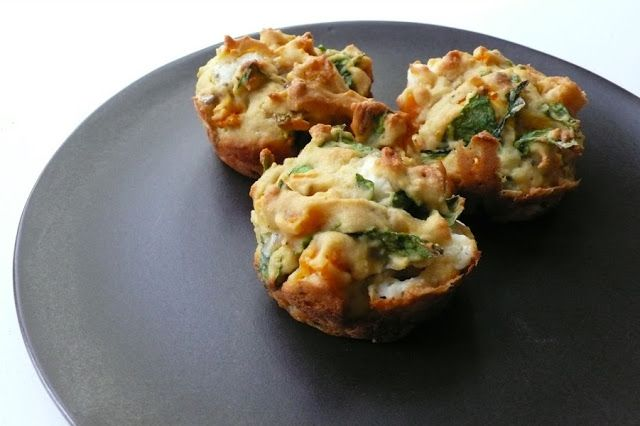 Feta Baby Spinach muffins | Cake Central Station | Pinterest