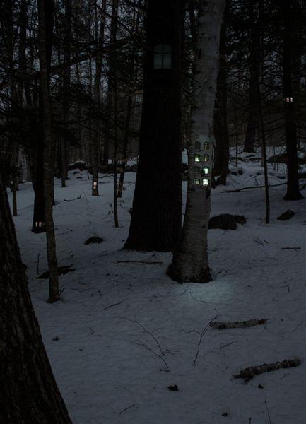 Ordinary Forest Transformed into a Nest of Tree Hotels by Boston-based artist Daniel Barreto  - My Modern Metropolis