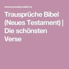 Trausprüche Bibel (Neues Testament) | Die schönsten Verse
