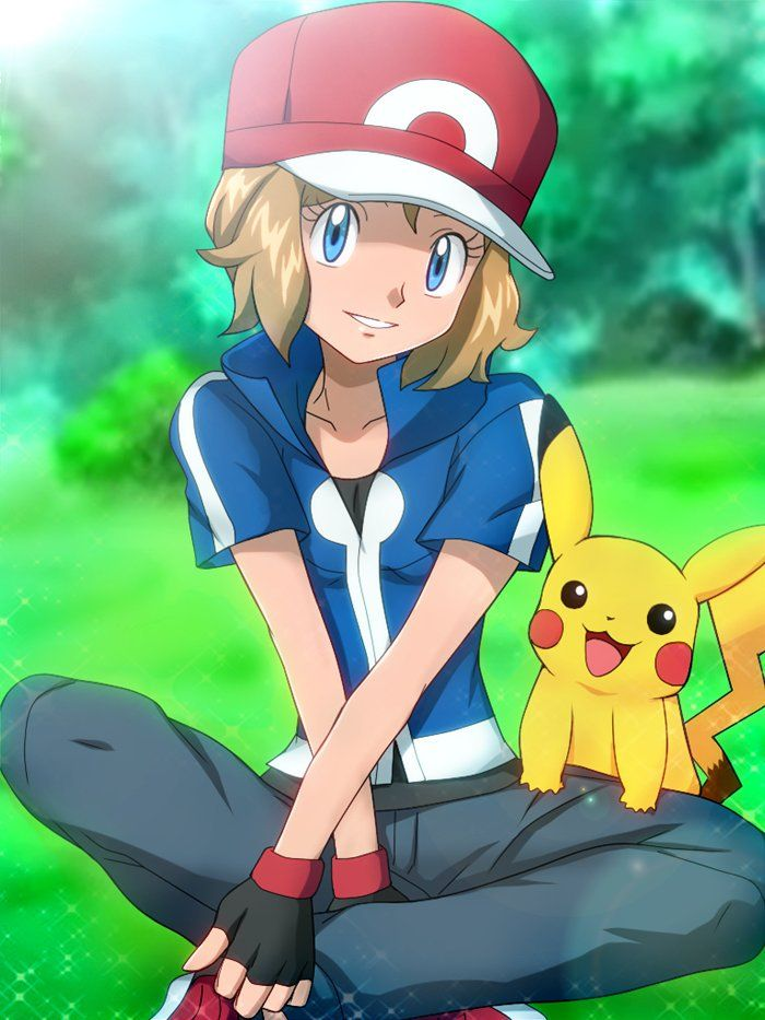 Serena (Ash Style) and Pikachu