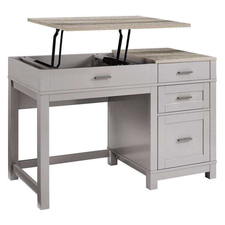 Paramount Lift Top Desk Sherbrooke Village Grey Desk