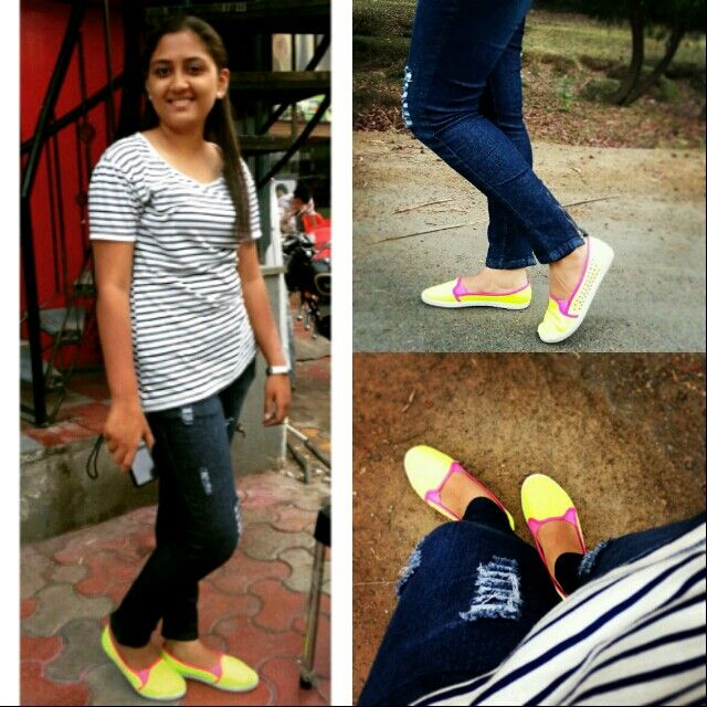 Neon shoes fashion life style
