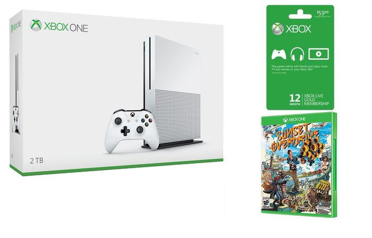Xbox One S bundle deals, PC game Summer Sale continues: A one-year Xbox Live Gold subscription card and a copy of Sunset Overdrive are the…