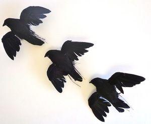 ARTIFICIAL BIRD, CROW, Small Flying  4 inch, per each