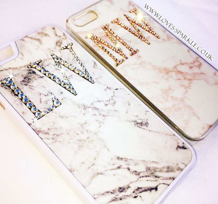 Our Mable effect phone cases with Swarovski crystal initials are the best sellers! Shop all colours on www.Loves-Sparkle.co.uk 💕✨👌🏼