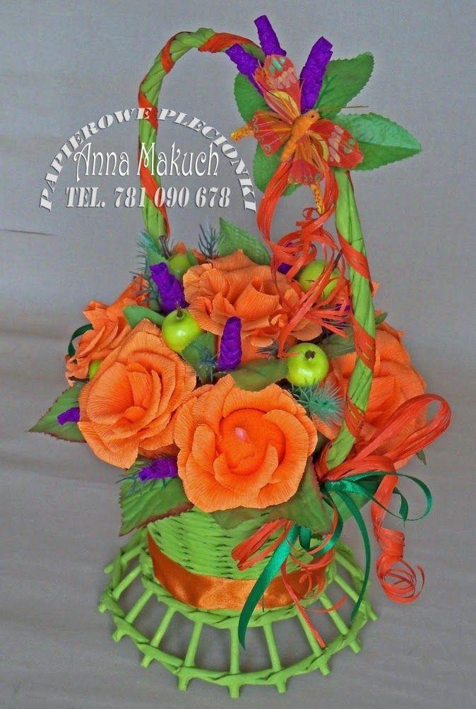 Papierowe plecionki: Pomarańczowo i energetycznie