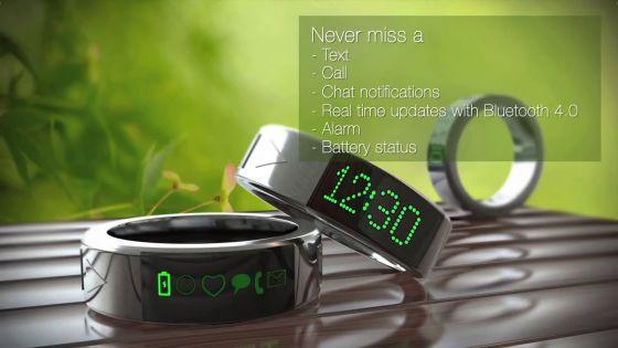 指輪にスマホとの連携機能を搭載したスマートリング「Smarty Ring」 - GIGAZINE