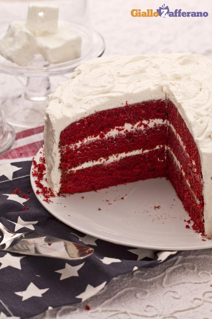 Quando si pensa al rosso in cucina, il primo pensiero è per la RED VELVET CAKE! #ricetta #GialloZafferano #italianrecipe #newyork