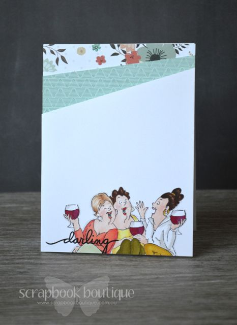 Art Impressions Ai Girlfriends: Wine Tasters Set. Friends sharing a drink ... girls night out. clean and simple