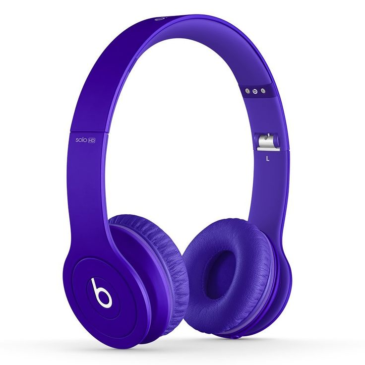 Purple Beats Solo HD #Headphones.  High performance sound quality.  Comfortable #Beats heaphones from Dr. Dre.