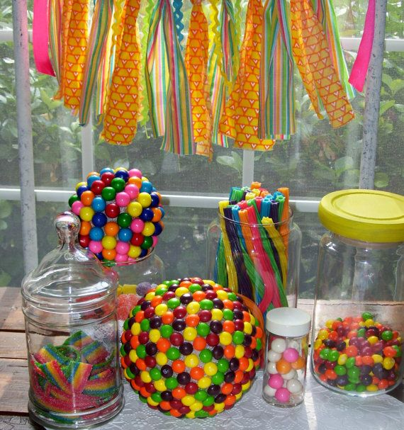 This Photo About 14 Candy Theme Party Decorations Enled As Also Describes And Labeled Centerpieces For