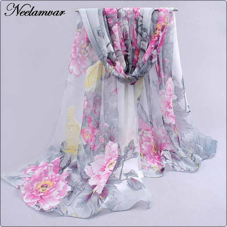 new 2016 spring and autumn winter women sheer chiffon georgette soft oblong scarves women's beach scarves shawl Cachecol