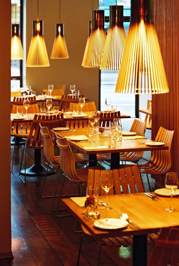 Secto 4200 pendants in the Restaurant Kastanj in Oslo, Norway. Photo by: Steffen Jänicke. www.sectodesign.fi