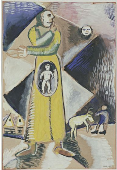 Maternity Marc Chagall (French, born Belarus. 1887-1985). MoMA, NYC by renzodionigi, via Flickr