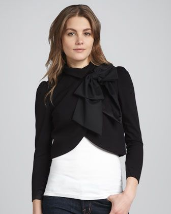 Addison Bow-Collar Jacket by Alice + Olivia at Neiman Marcus.