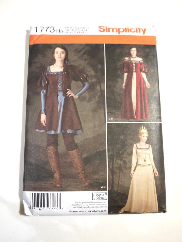 Arya Stark Katniss Sewing Pattern French Romantic Age Daily Wear Misses Costumes 3629 (6.00 USD) by PopFabric