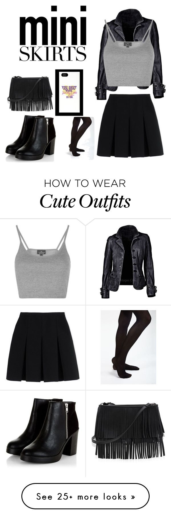 """""""Mini Skirt outfit"""" by prettylittletimelord on Polyvore featuring Topshop, Alexander Wang and White House Black Market"""