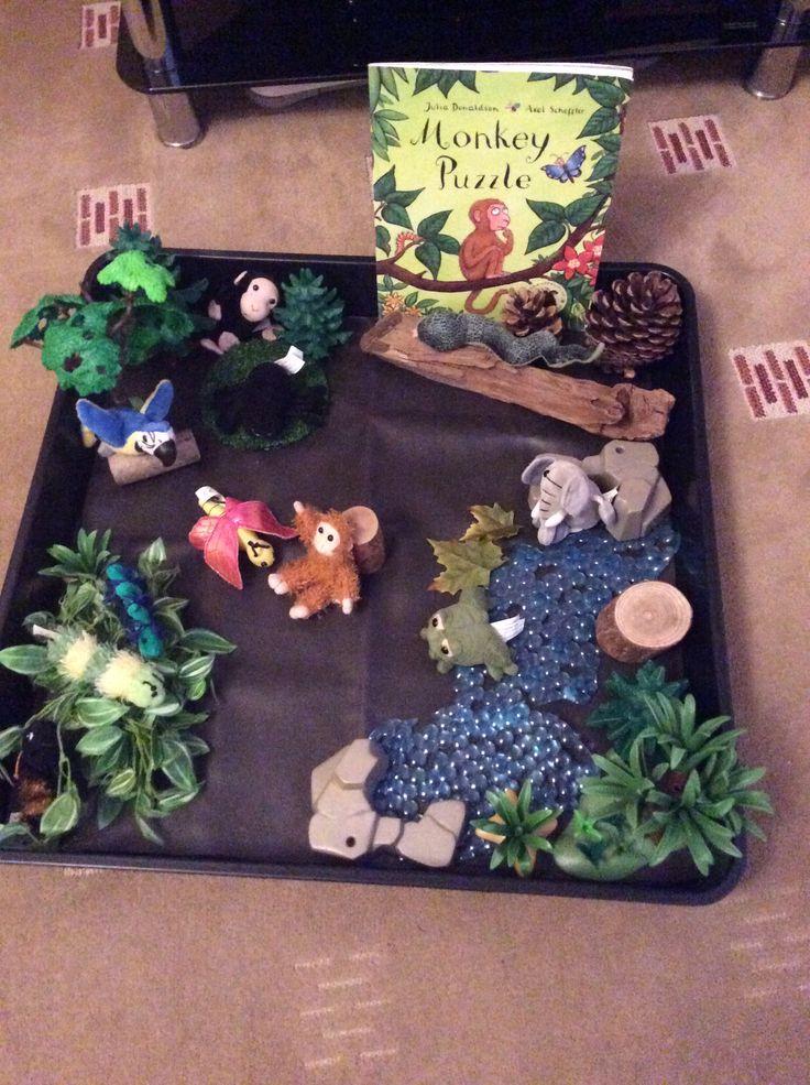 Monkey puzzle story tray