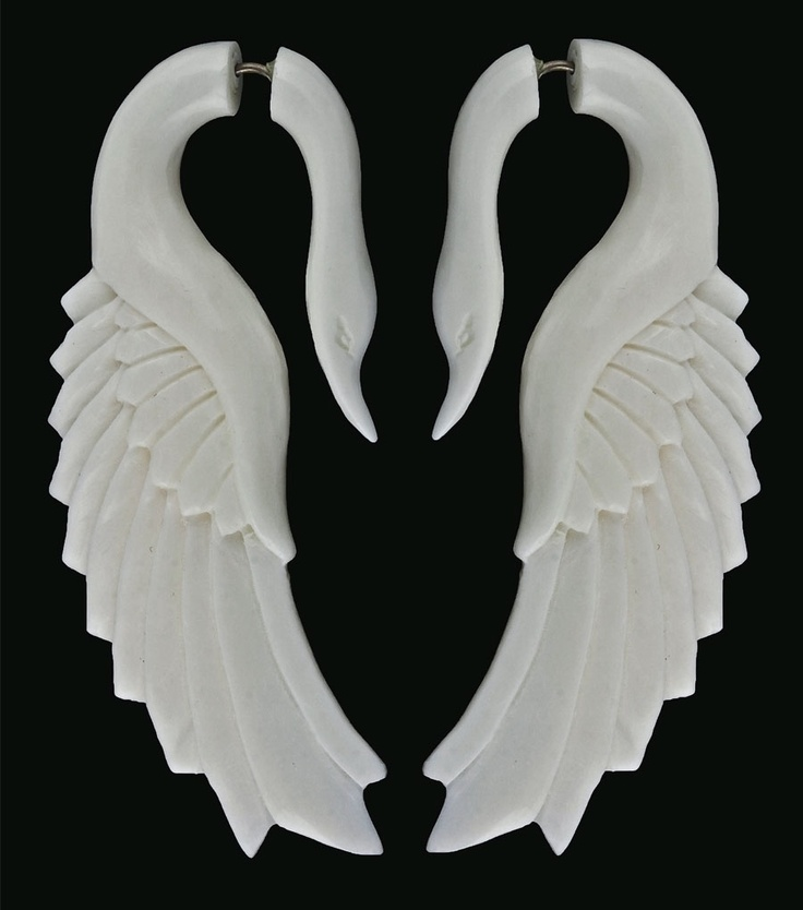 Swan earrings... made using traditional, ancestral carving methods by local artisans. $42