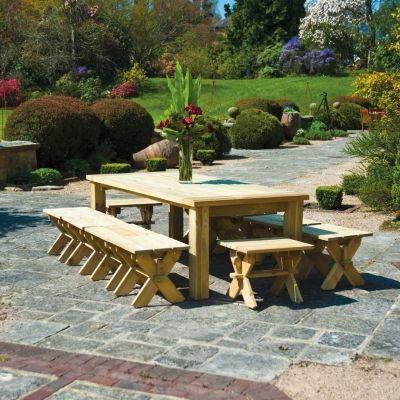 traditional chunky and rustic the farmers style dining table is suitable for outdoor or