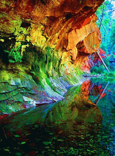 Caves ~ Sedona, AZ ♥Nature, Sedona Arizona, Colors, Creek Trail, Beautiful, Sedonaaz, West Forks, Oak Creek, Sedona Az