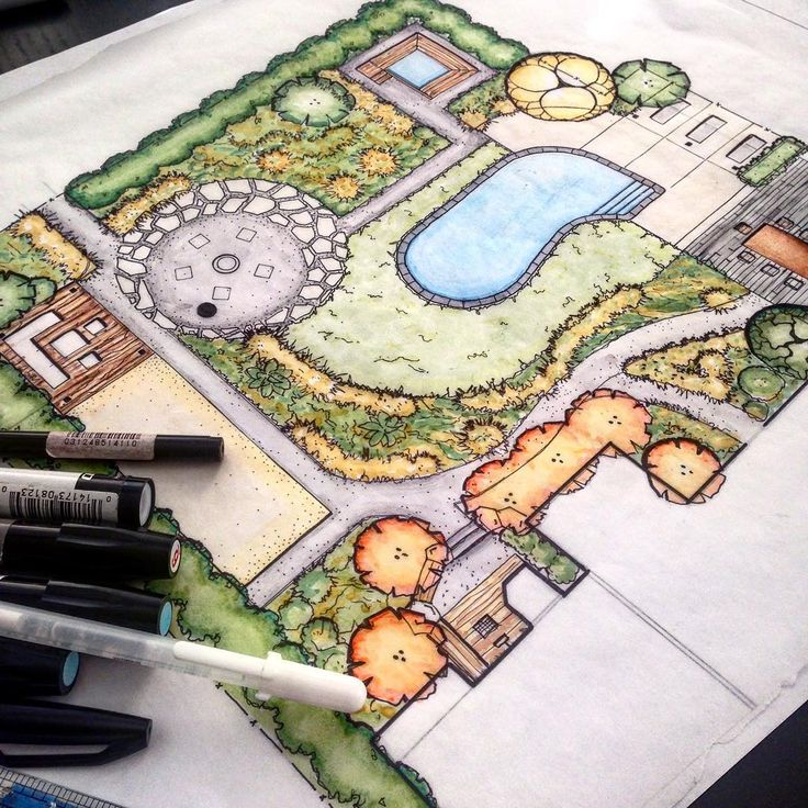 """#landscapearchitecture #landscapedesign #project #landarch #art #sketch…"