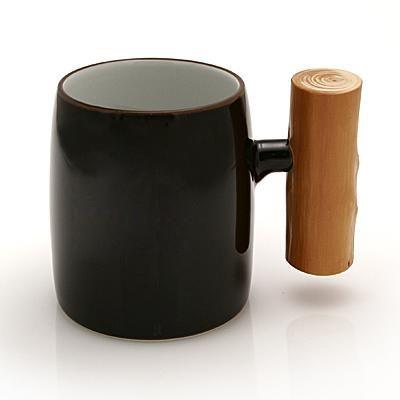 Mug with Wooden Handle $125