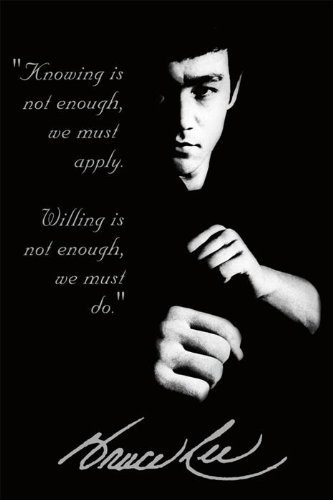 Bruce Lee Quote Martial Arts Karate Boxing Movie 24x36 RARE Poster Limited High Quality