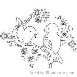 bird embroidery patterns - Google Search