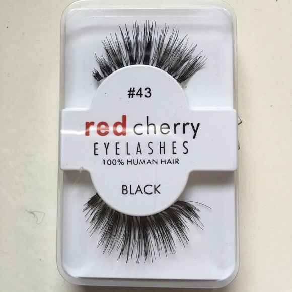 Red cherry lashes #43 Brand new never worn or used! Comes in a pack of 2! These are very popular lashes. Red cherry lashes #43 Red lashes  Makeup False Eyelashes