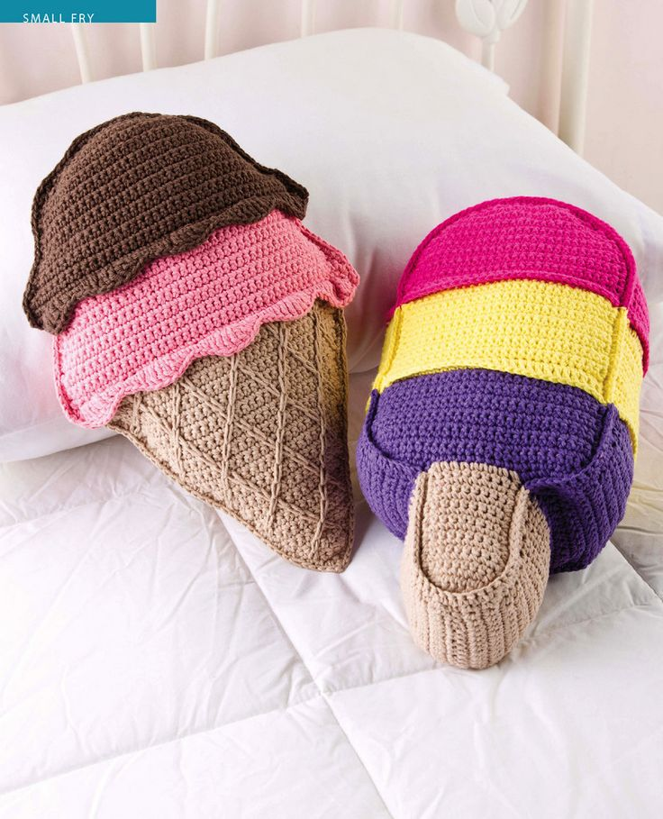 Sweet treat Pillows by Debra Arch  from Crochet! Magazine -Gifts to Go